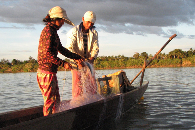 Fishing in the Mekong