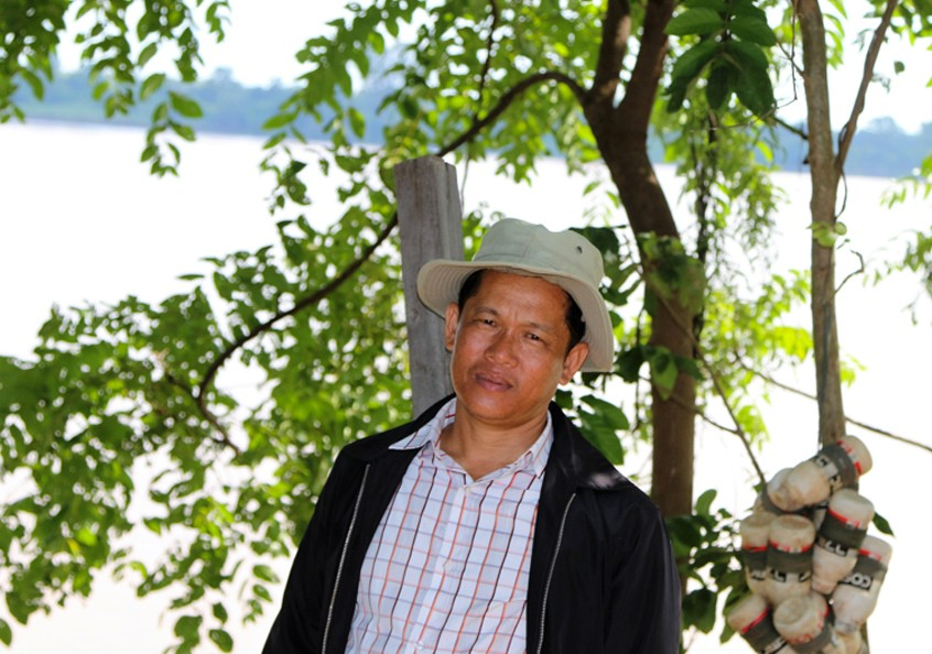 Pengly, a small-scale fisher from Khe village in northern Cambodia.