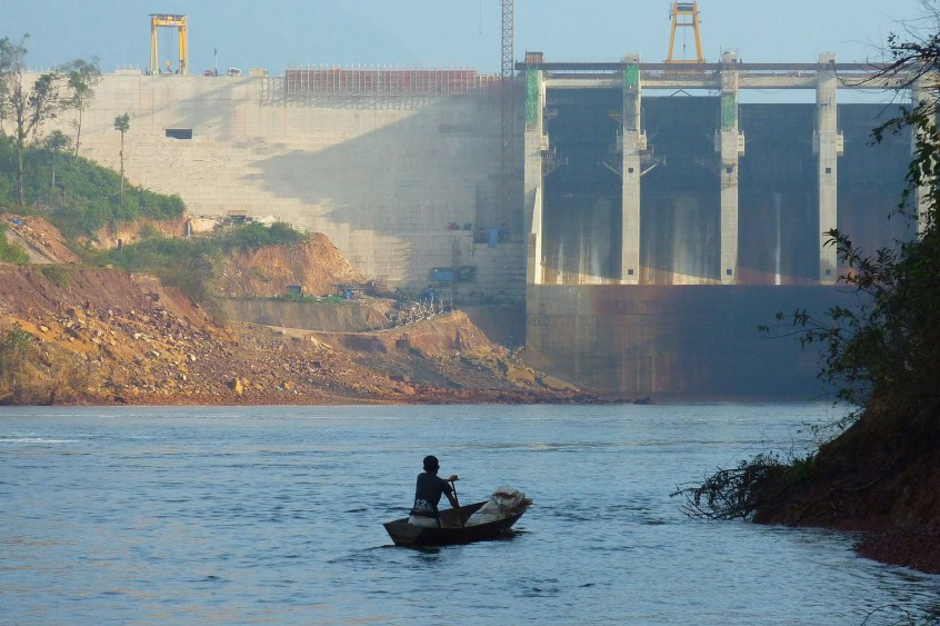 Dams, like Nam Gnouang Dam in Lao PDR, can impact reservoir fisheries