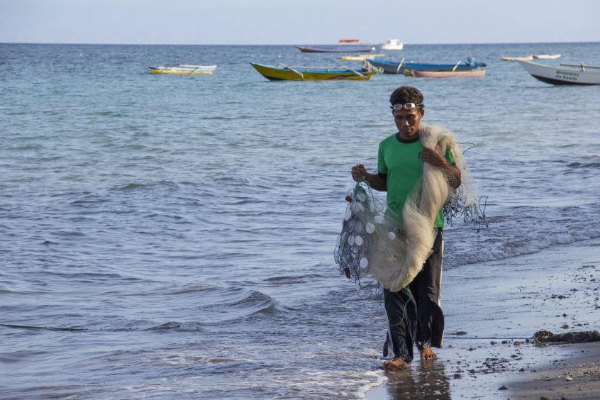 A fisherman in Atauro, Timor-Leste.