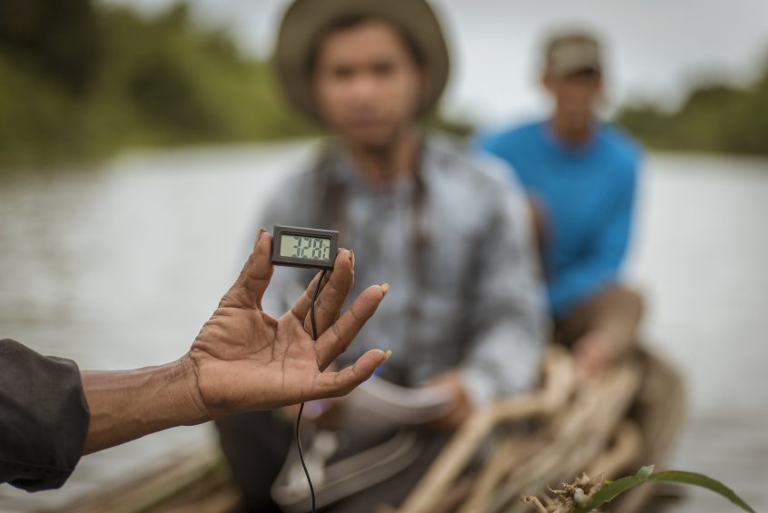 Data collection in Cambodia.